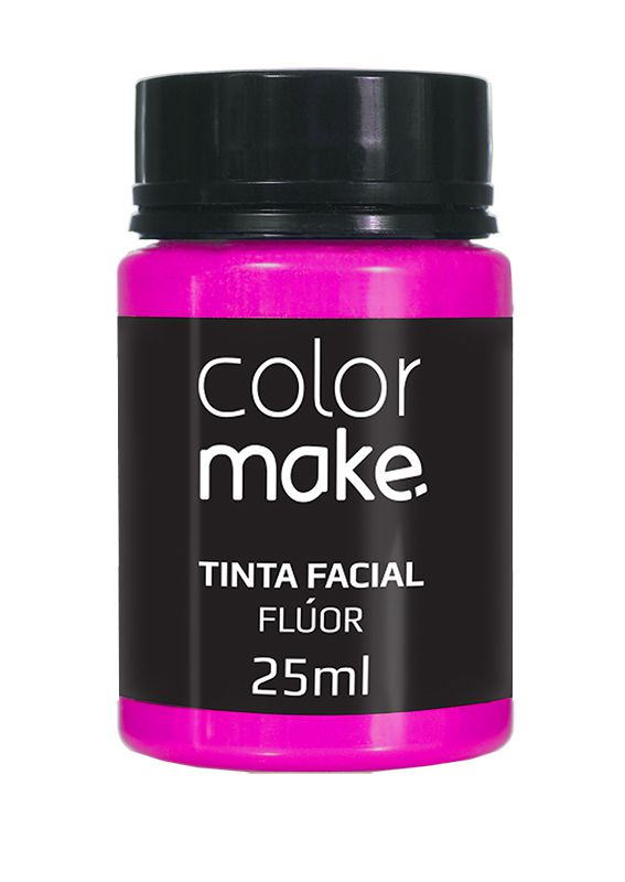 Tinta Líquida Rosa Flúor 25ml Color Make