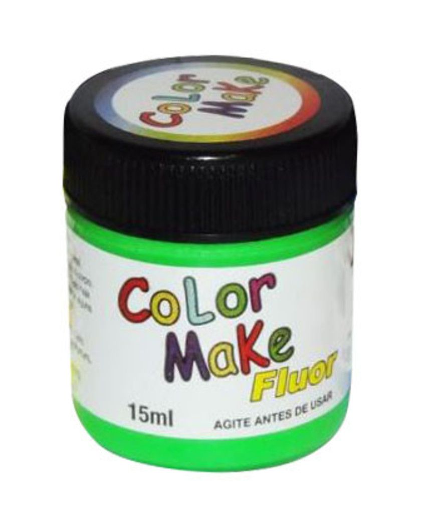 Tinta Líquida Verde Flúor 15ml Color Make