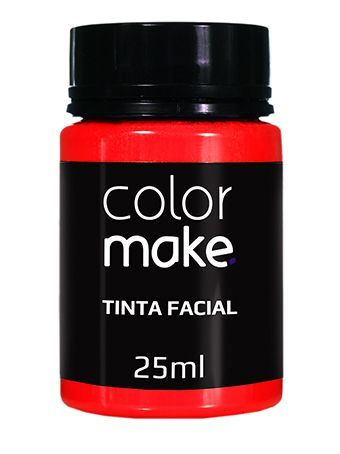 Tinta Líquida vermelha 25ml Color Make