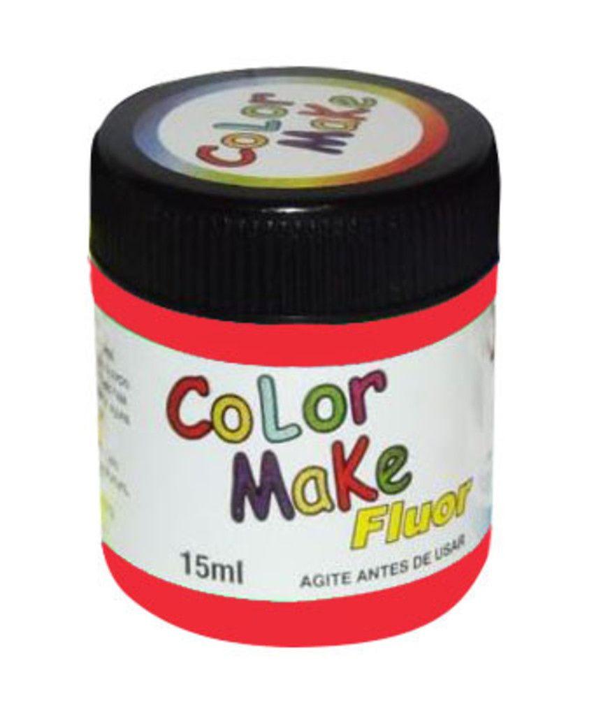 Tinta Líquida Vermelho Flúor 15ml Color Make