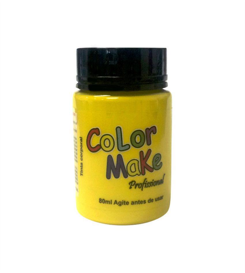 Tinta Profissional Liquida Color Make 80ml Amarelo