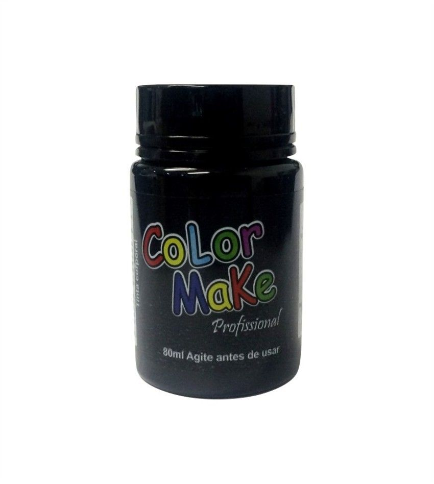 Tinta Profissional Liquida Color Make 80ml Preto