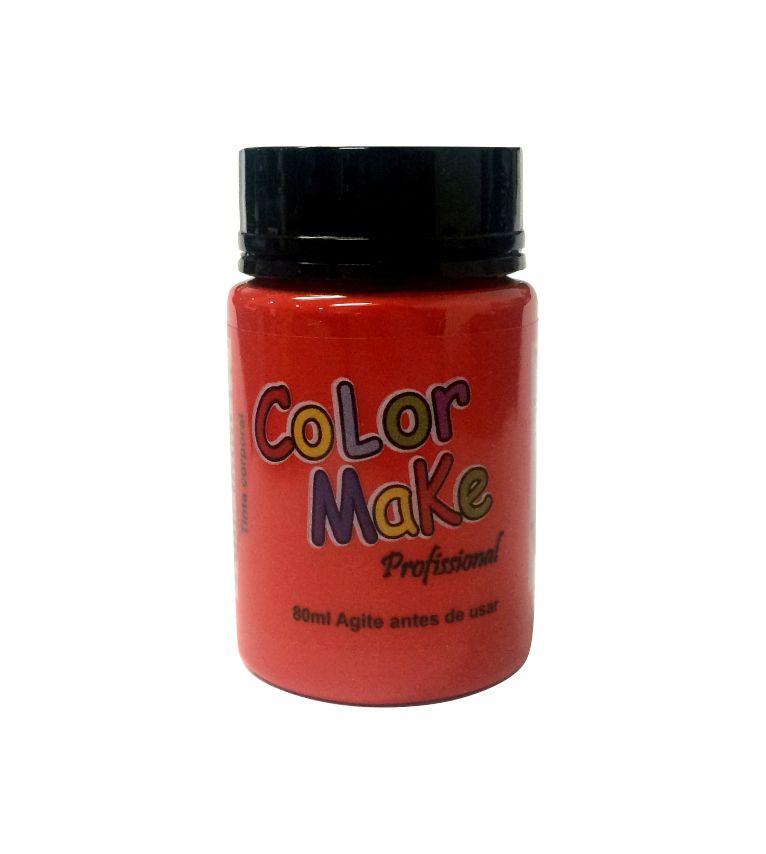 Tinta Profissional Liquida Color Make 80ml Vermelho