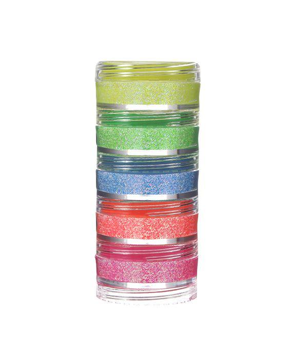 Torre de Glitter Pó flúor 5 cores Colormake