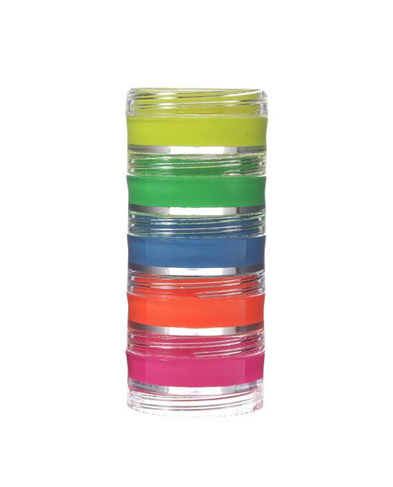 Torre de Tinta Facial Cremosa Flúor (neon) 5 cores Color Make