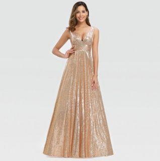 Vestido Alça Rose Gold (dourado)