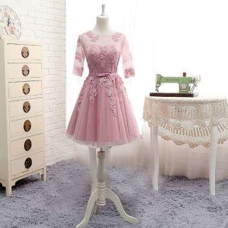 Vestido Curto Rosa Claro M