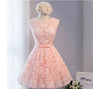 Vestido Curto Rose Pêssego