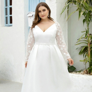 Vestido de Noiva Manga Plus Size