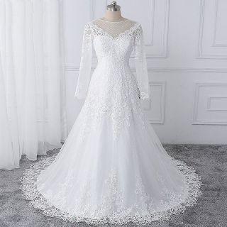 Vestido de Noiva Manuela Manga Longa