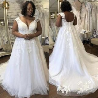 Vestido de Noiva Plus Size Cauda Bordada