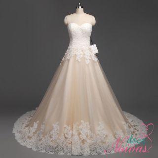 Vestido de Noiva Supremo Tomara que Caia Champanhe