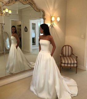 Vestido de Noiva Tomara que Caia em Cetim