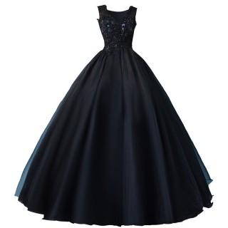 Vestido Debutante Alça Preto