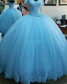Vestido Debutante Azul Frozen