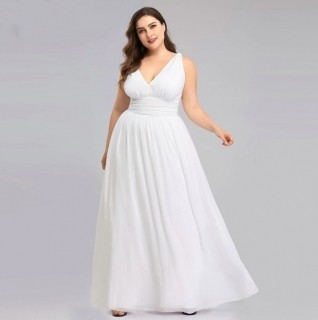 Vestido Leve Alça Civil Plus Size