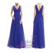 Vestido Longo Alça Azul Bic
