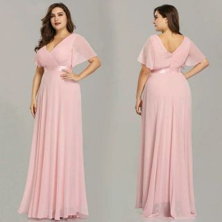 Vestido Longo Coral e Rosé