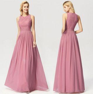 Vestido Longo Rosa Velho