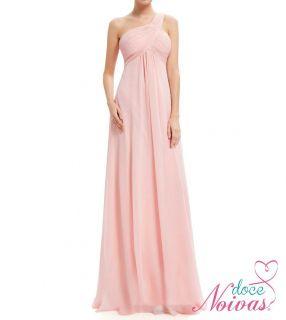 Vestido Longo Uma Alça Rosé