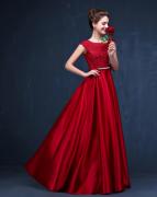 Vestido Longo Vermelho Escuro