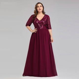 Vestido Marsala Senhora