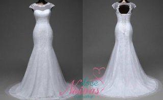 Vestido Noiva Sereia Renda Cauda RemovÍvel