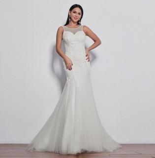 Vestido Sereia Plus Size em Off White