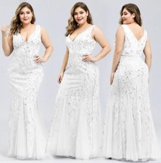 Vestido Sereia Tule Plus Size