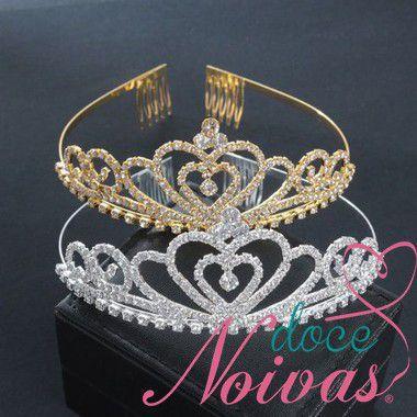 Coroa dourada ou prateada