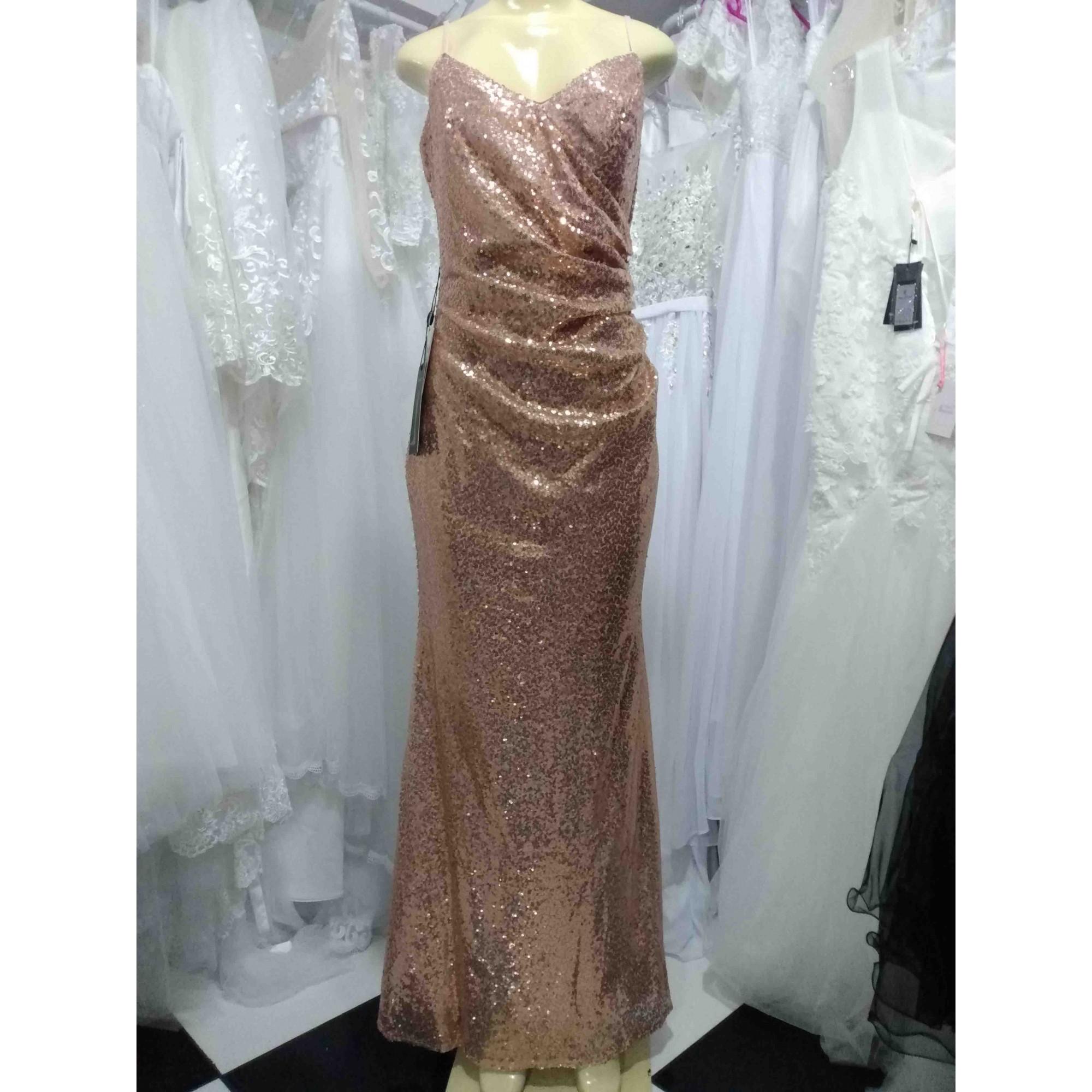 Vestido Alça Justo Rose Gold (dourado)