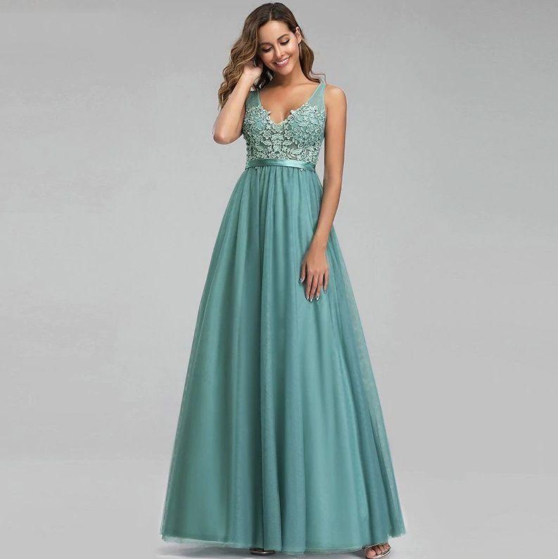 Vestido Alça Verde Esmeralda
