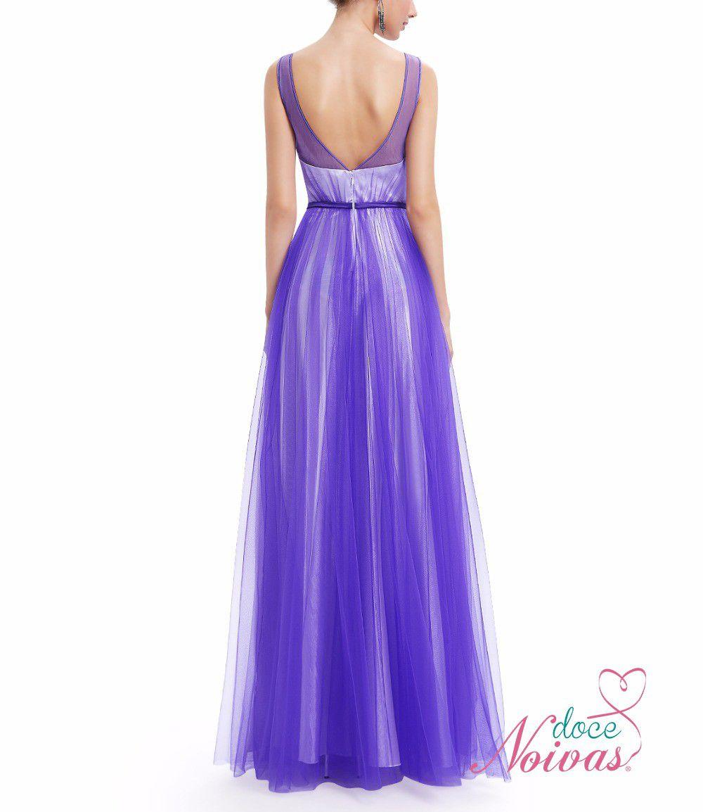 Vestido azul violeta