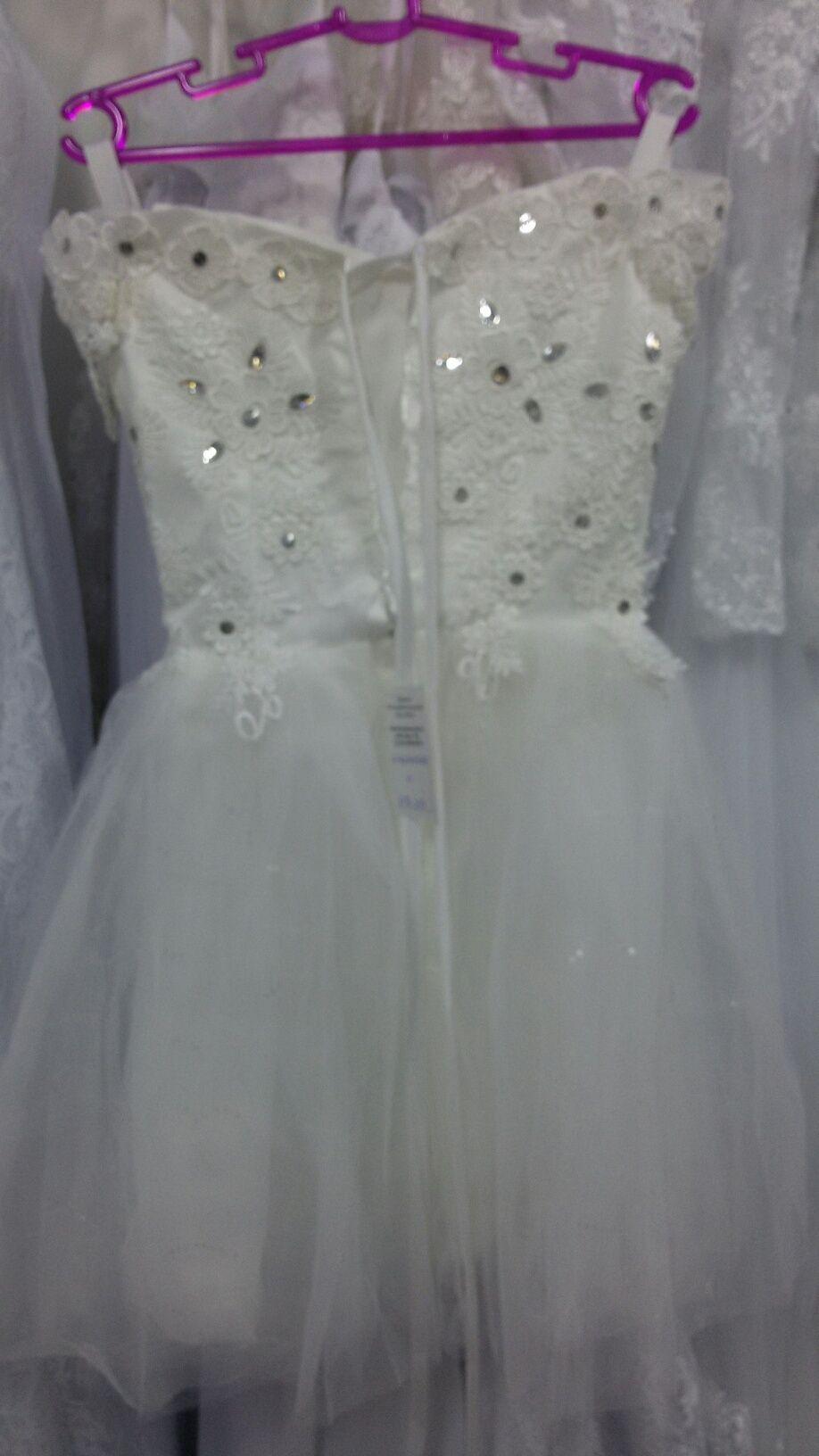 Vestido Curto Alça Ombro Off White