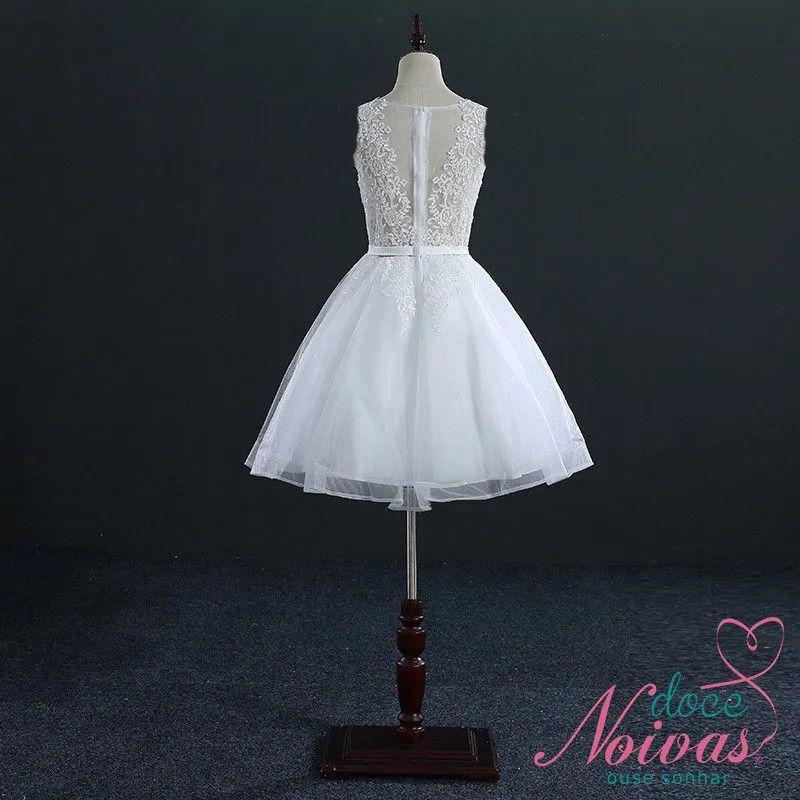 Vestido Curto Civil Alice Off White