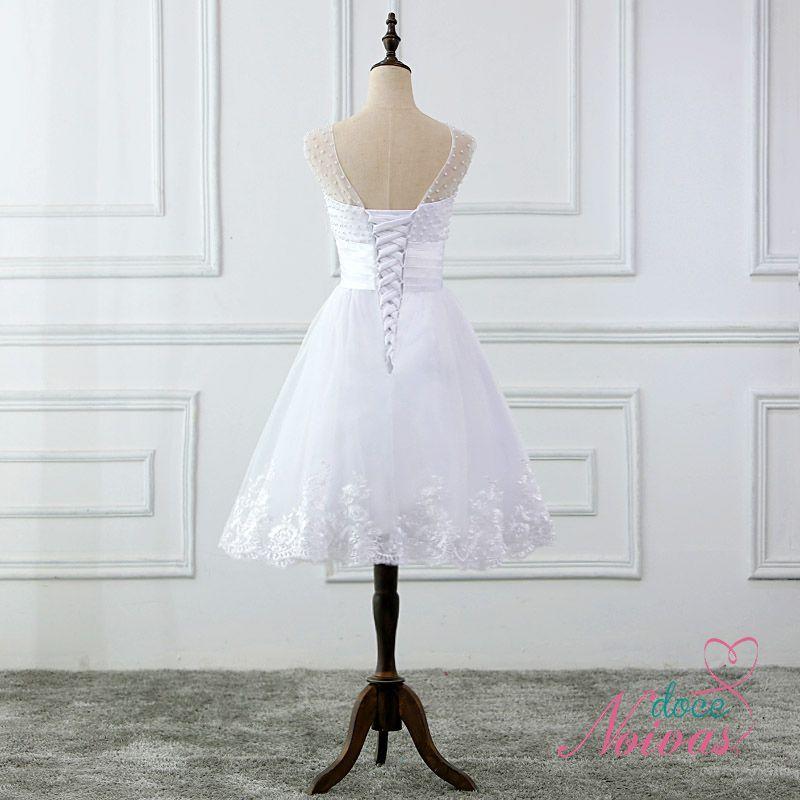 Vestido Curto Pérola