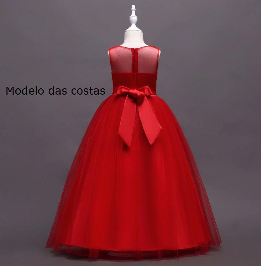 Vestido Daminha Marsala