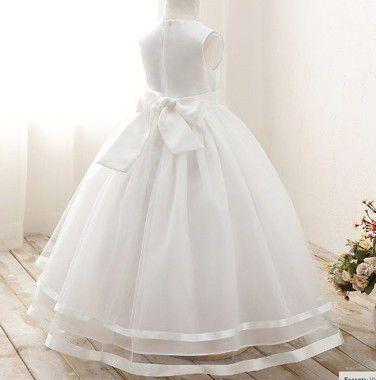 Vestido de daminha off white