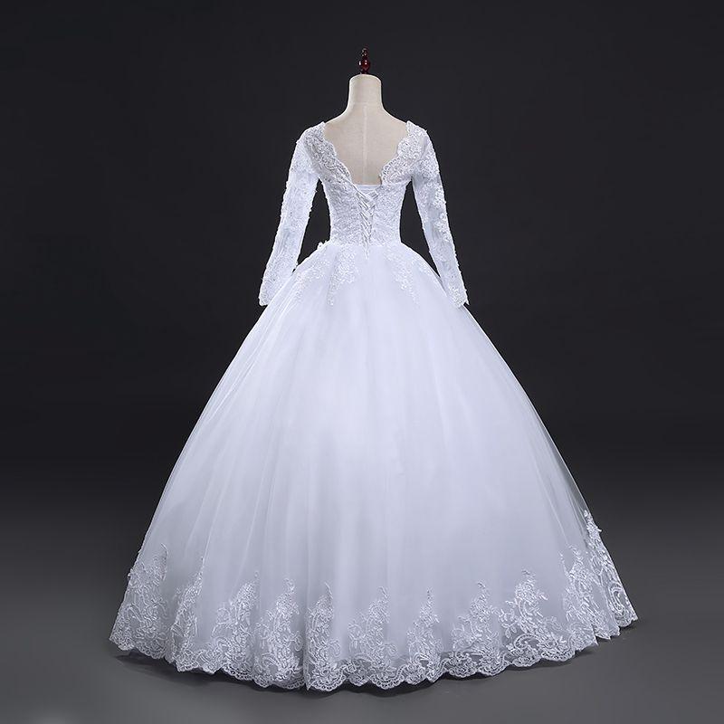 Vestido de Noiva Betina Manga Longa