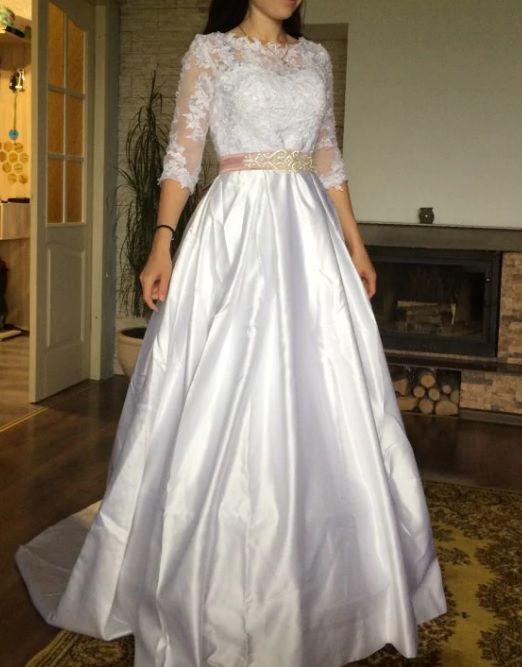 Vestido de Noiva com Saia em Cetim Julia