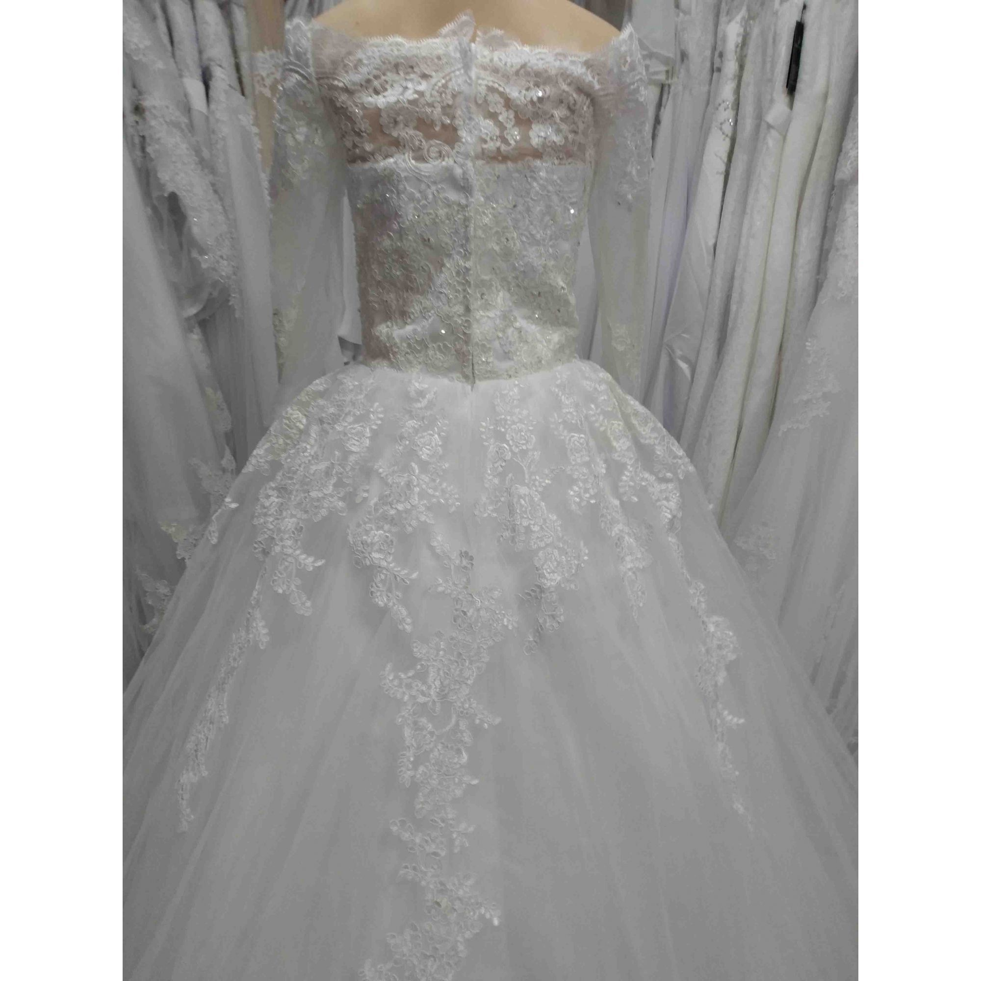 Vestido de Noiva Elisabeth Manga Ombro a Ombro
