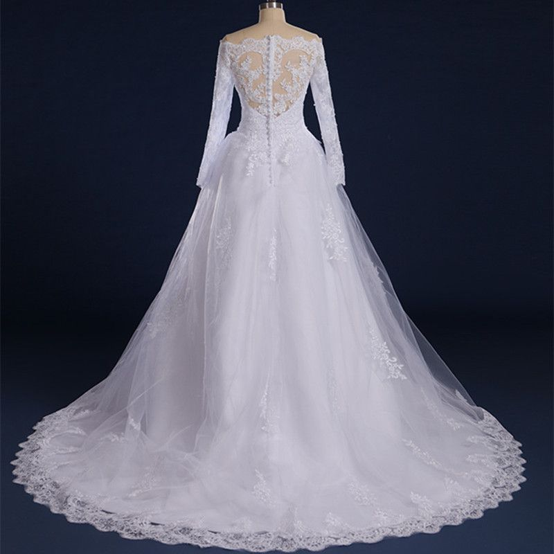 Vestido de Noiva Imperatriz Manga Longa