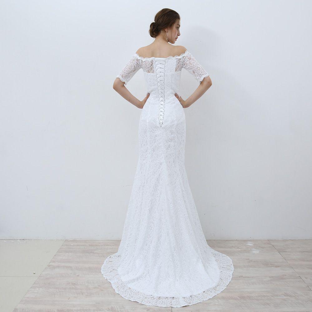 Vestido de Noiva Jennifer Rendado Leve