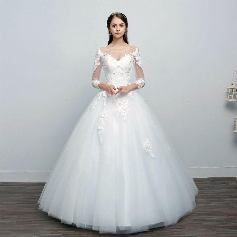 Vestido de Noiva Lara Manga Off White