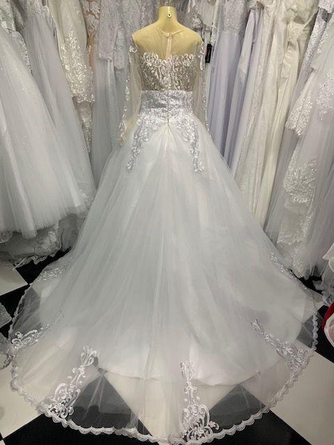 Vestido de Noiva Léia Manga Longa