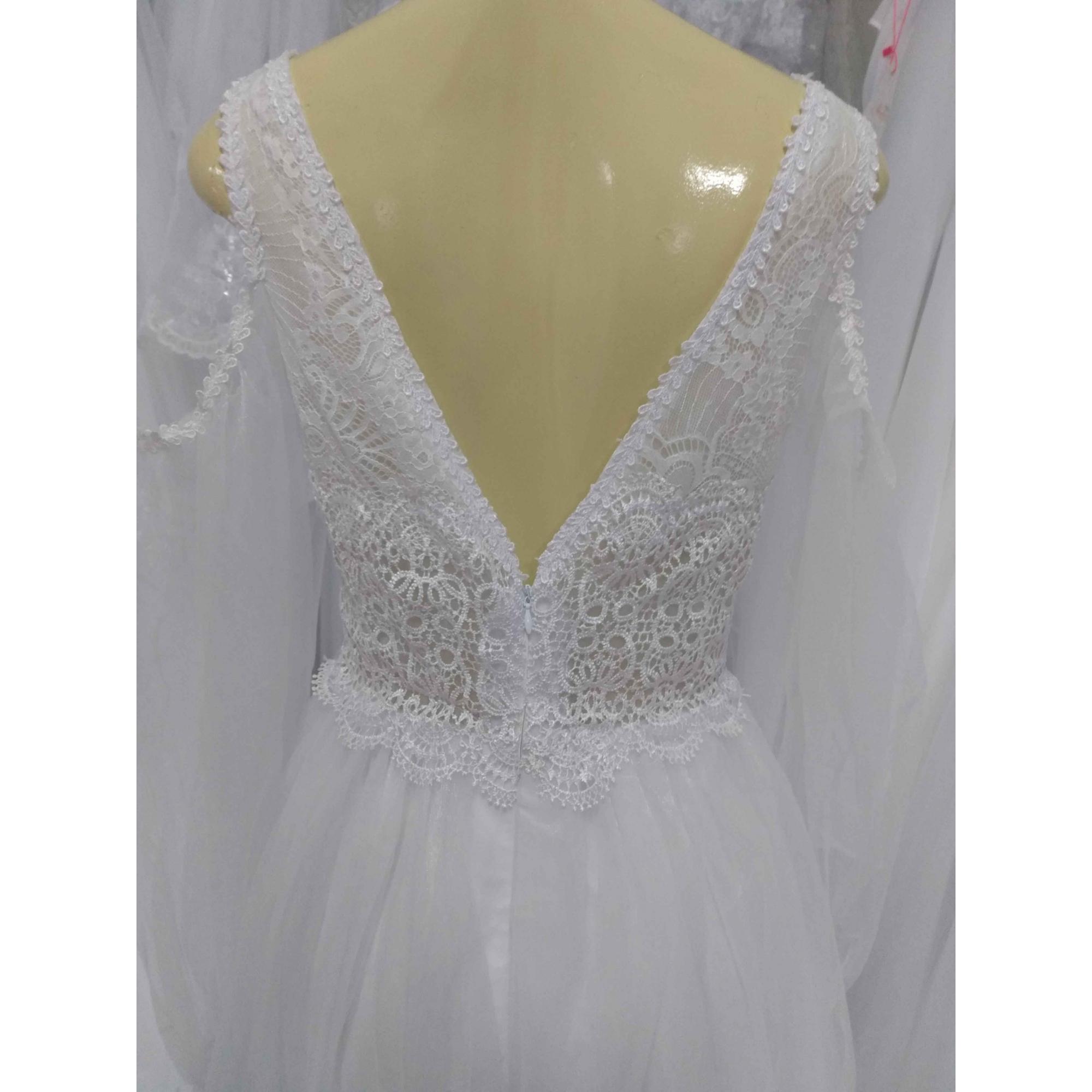Vestido de Noiva Leve Barbara Manga Longa em Tule
