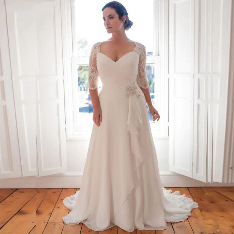 Vestido de Noiva Leve Martina Plus Size Branco