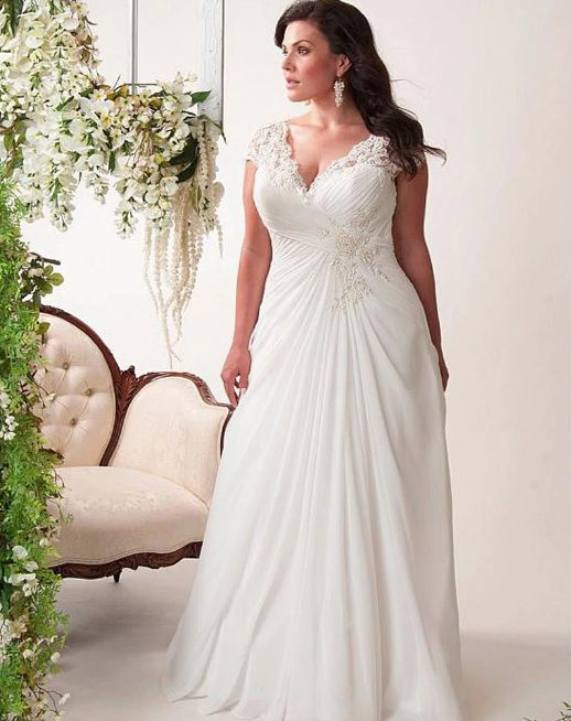 Vestido de Noiva Leve Praia Plus Size Branco