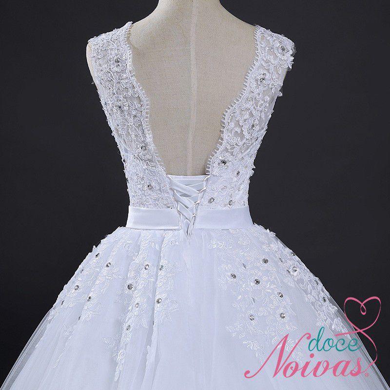 Vestido de Noiva Madalena Alça