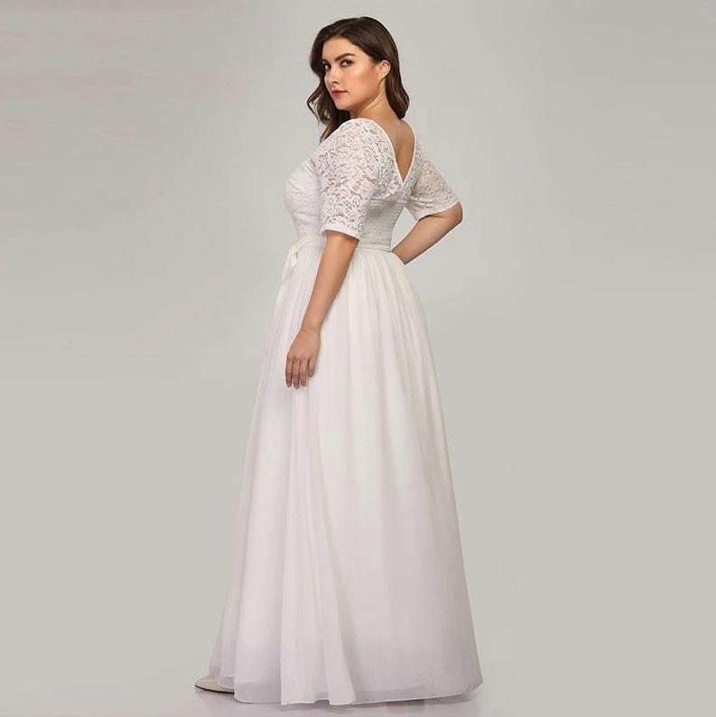 Vestido de Noiva Manguinha Plus Size